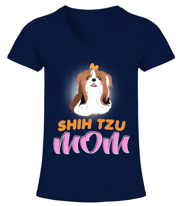 Cute Shihtzu Cartoon Mom