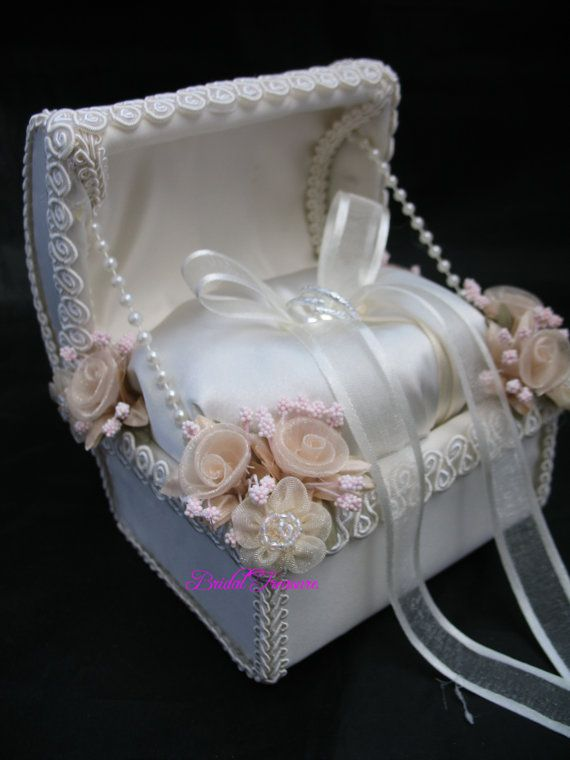 Ivory Satin Ring Bearer Chest