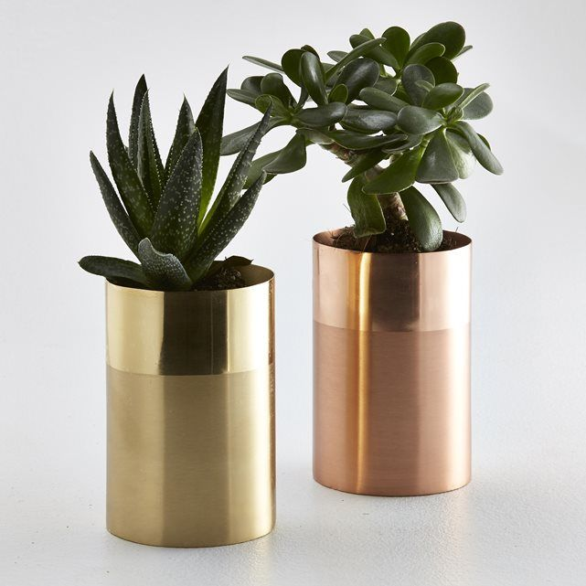 Ikalo Two-Colour Metal Vase