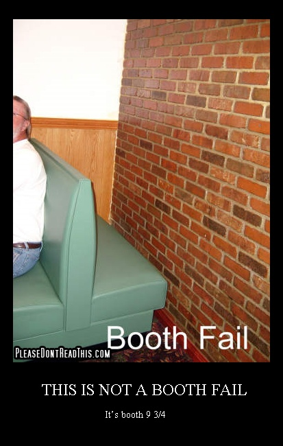 Yeah, they serve your food on the other side of the wall.. ;)