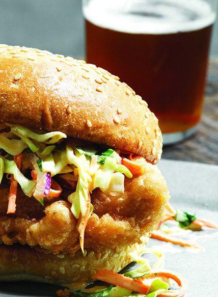 Beer-Battered Chicken Sandwich