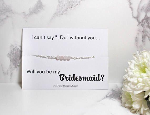 Bridesmaid Pearl Bracelet - Bridesmaid Crystal Bracelet - Bridesmaid Proposal Gift - Custom Bridal Party Jewelry - Bridal Party Proposal - Bridesmaid Proposal Bracelet