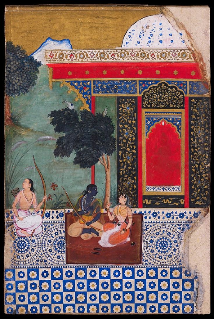 Rama's forest dwelling in Panchavati (front)   © Ashmolean Museum, University of Oxford