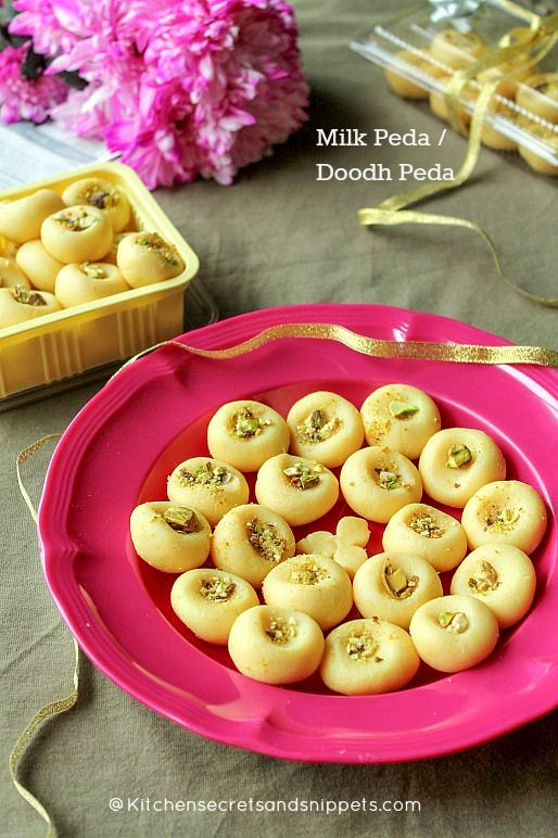 Milk Peda / Doodh Peda - To celebrate the occasion ~ Kitchen Secrets and Snippets