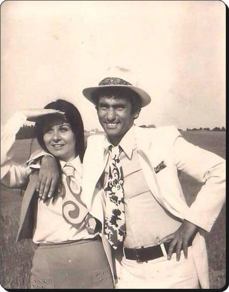 """Fatma Girik ve Yılmaz Güney """"Yarın Son Gündür"""" filmi setinde. - 1971.ve 1 Kasım son gündü filmi çekeceğiz"""