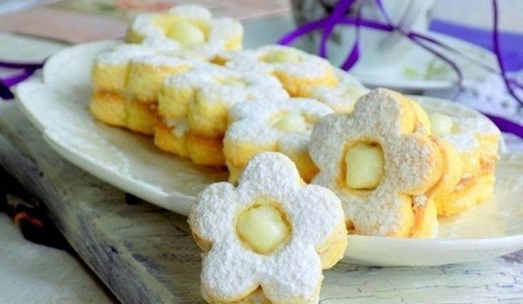 Linecké koláčiky s kokosom a vanilkovým krémom - Receptik.sk