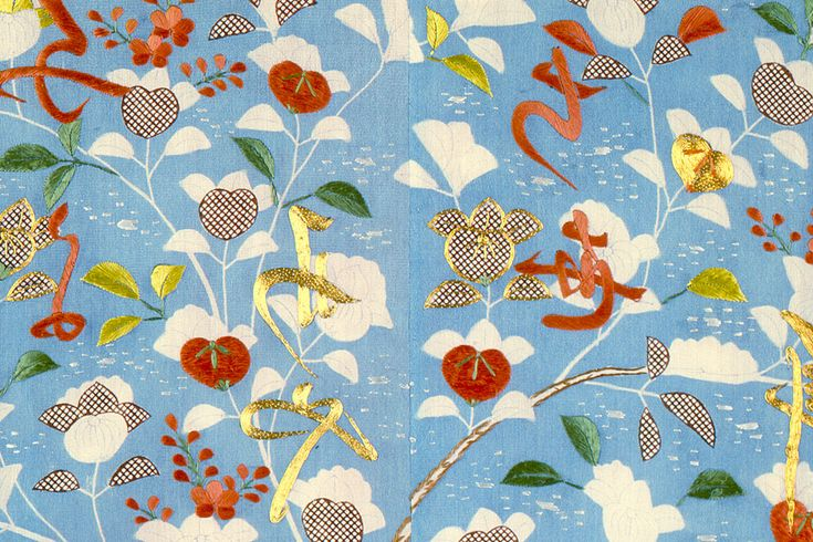 Detail of a Kimono pattern, Los Angeles County Museum of Art.