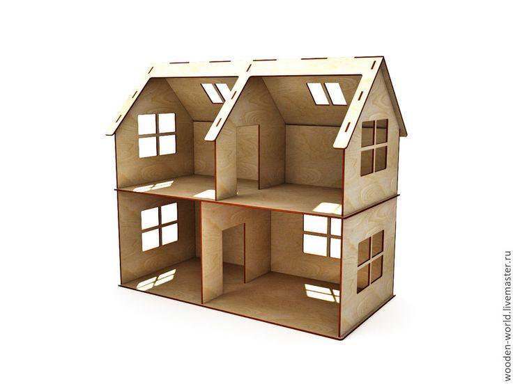 Кукольный домик 2 этажа - домик,игрушка,Мебель,мебель из дерева,мебель для кукол