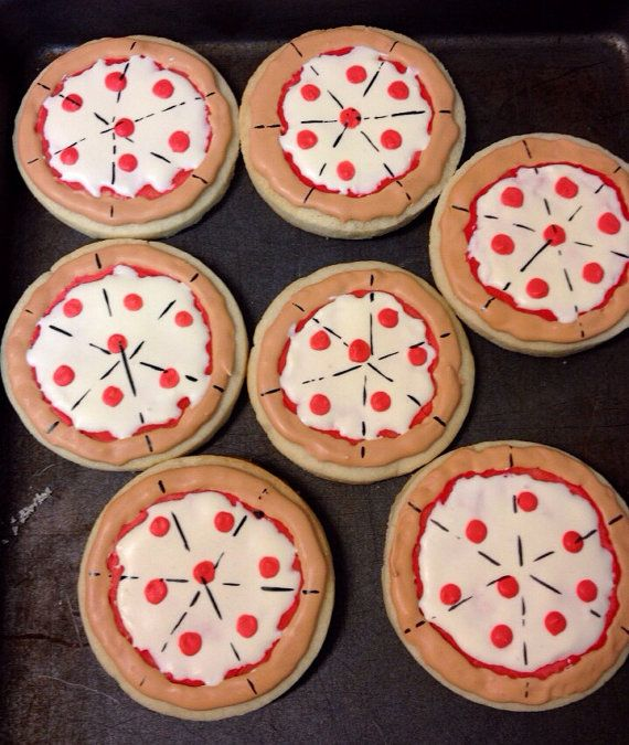 Pizza cookies- pizza party, TMNT, Ninja turtle cookies on Etsy, $18.00