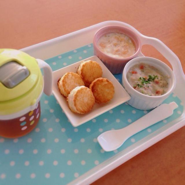 ♢トースト ♢ツナと野菜のシチュー ♢すりおろし林檎ヨーグルト ♢麦茶 - 3件のもぐもぐ - 離乳食 by kaiton0312
