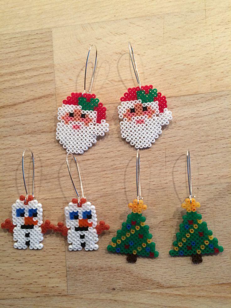 Jule øreringe hama mini