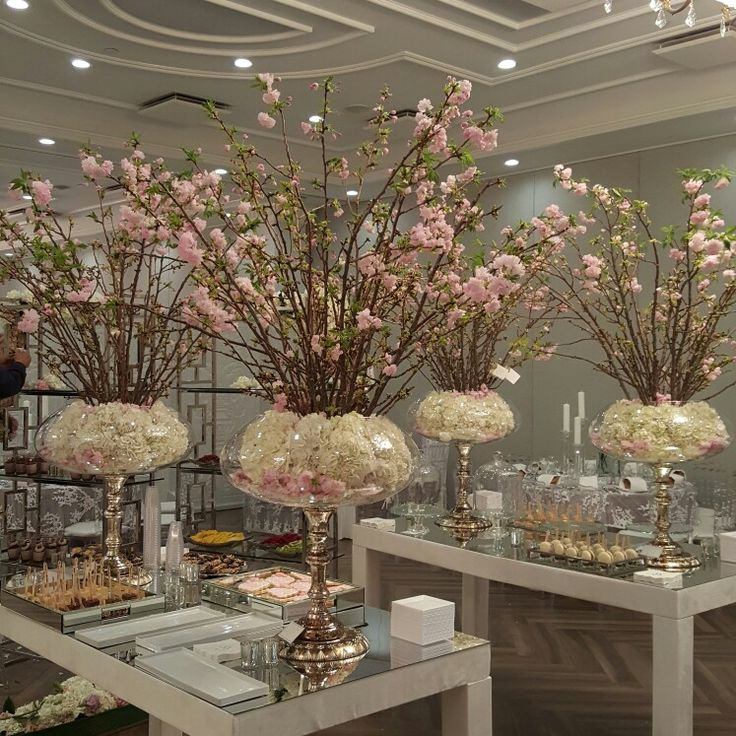 cherry blossom enchanted garden theme wedding reception