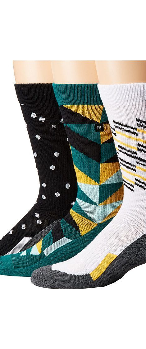Richer Poorer Compression (Green/White/Black) Men's Crew Cut Socks Shoes - Richer Poorer, Compression, M3G-AW1607, Footwear Socks Crew Cut, Crew Cut, Socks, Footwear, Shoes, Gift - Outfit Ideas And Street Style 2017