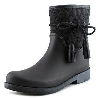Jessica Simpson Racyn Women Round Toe Synthetic Black Rain Boot.