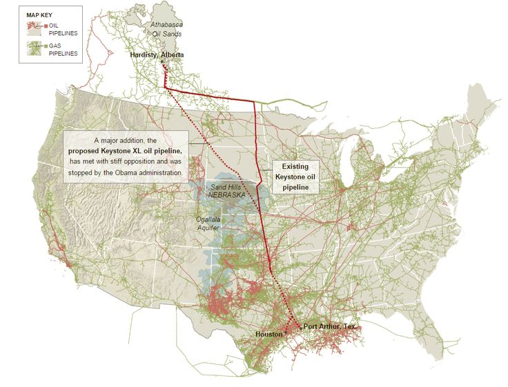 Oil Pipeline Map