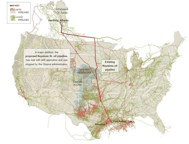 Oil Pipeline Map