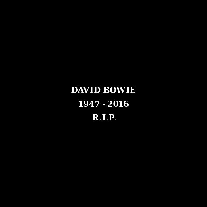 DAVID BOWIE 1947 - 2016 R.I.P.></a>     <div id=