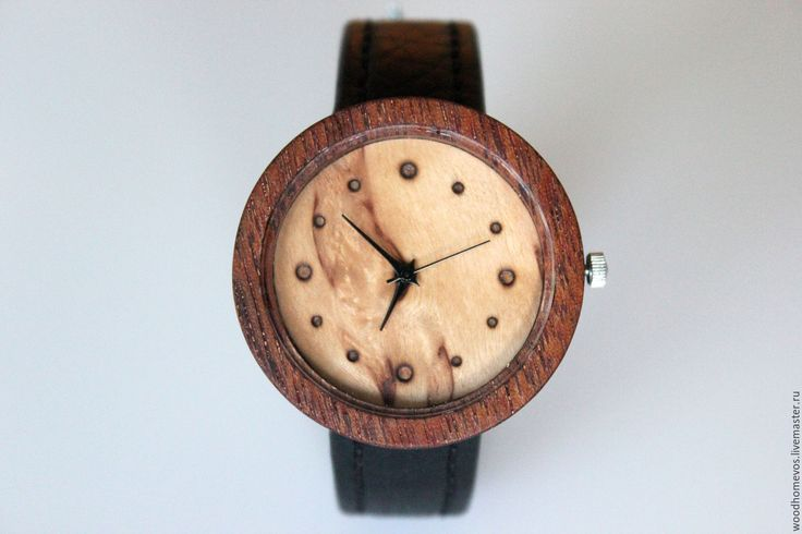 Купить Наручные часы из дерева (красное дерево) - комбинированный, красное дерево, карельская береза, часы