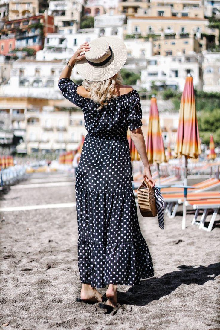 Polka dots, summer outfit, summer 2017, summer dress, blogger style, beach look, cult gaia