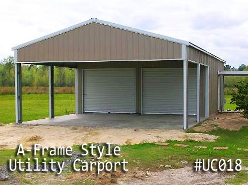 Maximize a space's utility by building a Utility Carport, which is a hybrid of a small garage or shed and a carport. Description from bettermetalbuildings.com. I searched for this on bing.com/images