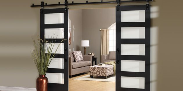 Barn (or track) doors are a great way to add style and décor to your home.