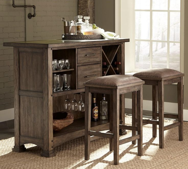 Shop For The Liberty Furniture Stone Brook 3 Piece Bar And Stool Set At  DuBois Furniture   Your Waco, Temple, Killeen, Texas Furniture U0026 Mattress  Store
