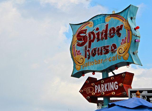 austin texas daytime neon spider house cafe https