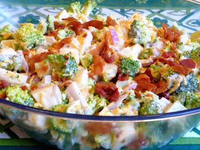 SPLENDID LOW-CARBING BY JENNIFER ELOFF: AMERICAN SUMMER BROCCOLI SALAD - Terrific, tasty salad for your summer BBQ's and picnics! ~ Visit us for more recipes at: https://www.facebook.com/LowCarbingAmongFriends AND https://www.facebook.com/LowCarbHitParade