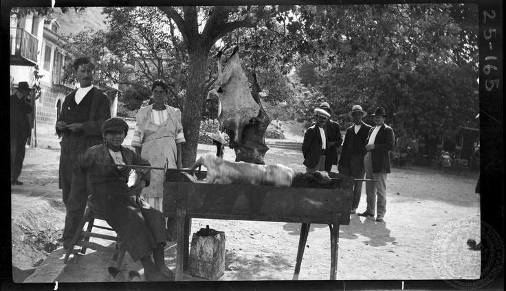 Naupaktos. Lamb on spit. 1925; Dorothy Burr Thompson.