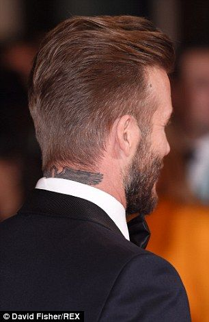 David Beckham haircut from behind February 2015