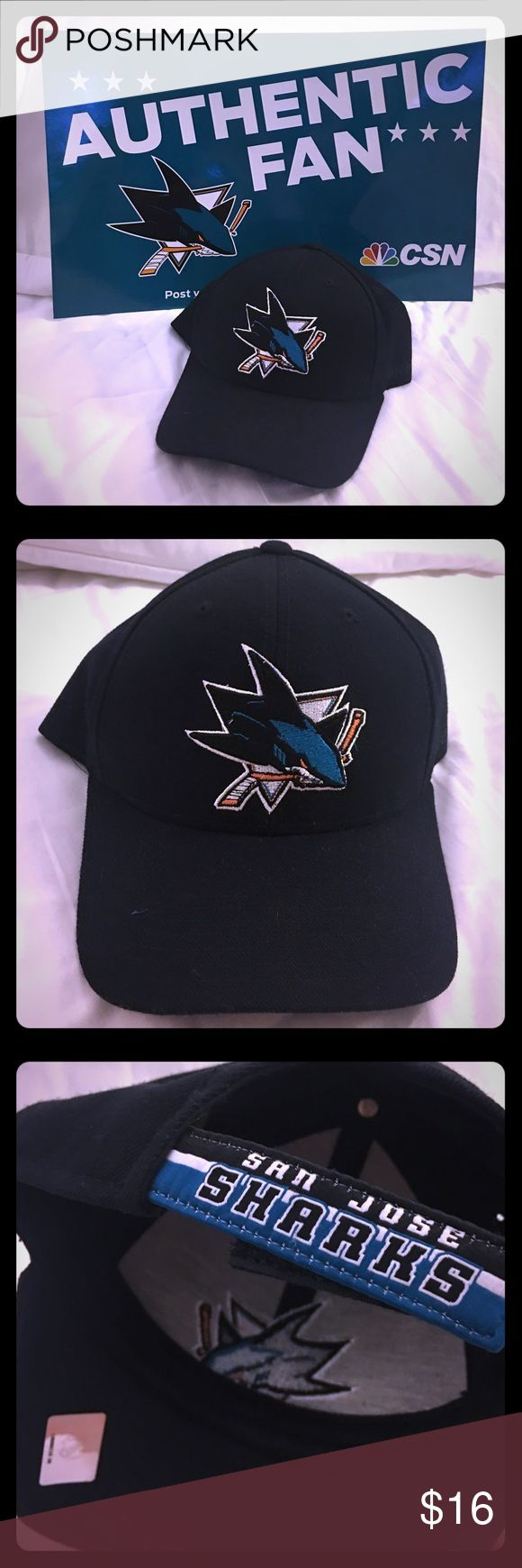 ⛸ San Jose Sharks Reebok Adjustable Cap Get ready for another exhilarating San Jose Sharks Playoffs run with this Reebok licensed adjustable cap. Reebok Accessories Hats