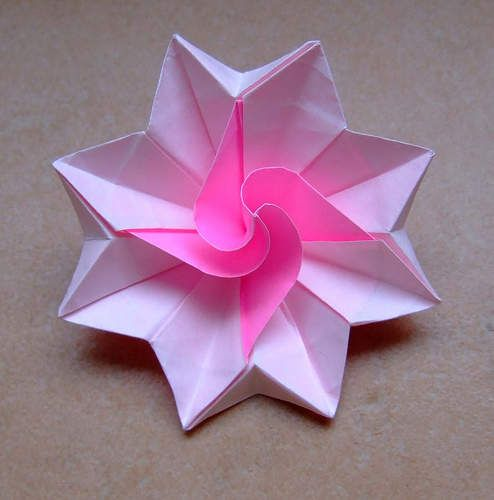 Hhow to make origami flowers | Make Origami Flowers, Simple Origami Flower Design, Beautiful Origami ...