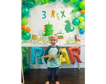 3-Rex Three Rex Dinosaur Party Backdrop Birthday Party INSTANT | Etsy