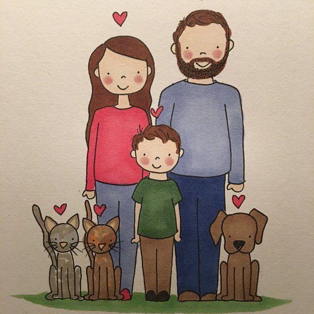 Картинки моя семья и собака