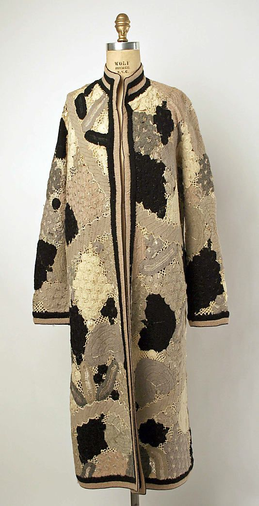 1920's Coat - Wool, silk - Label: Grande Maison de Blanc New York - The Metropolitan Museum of Art