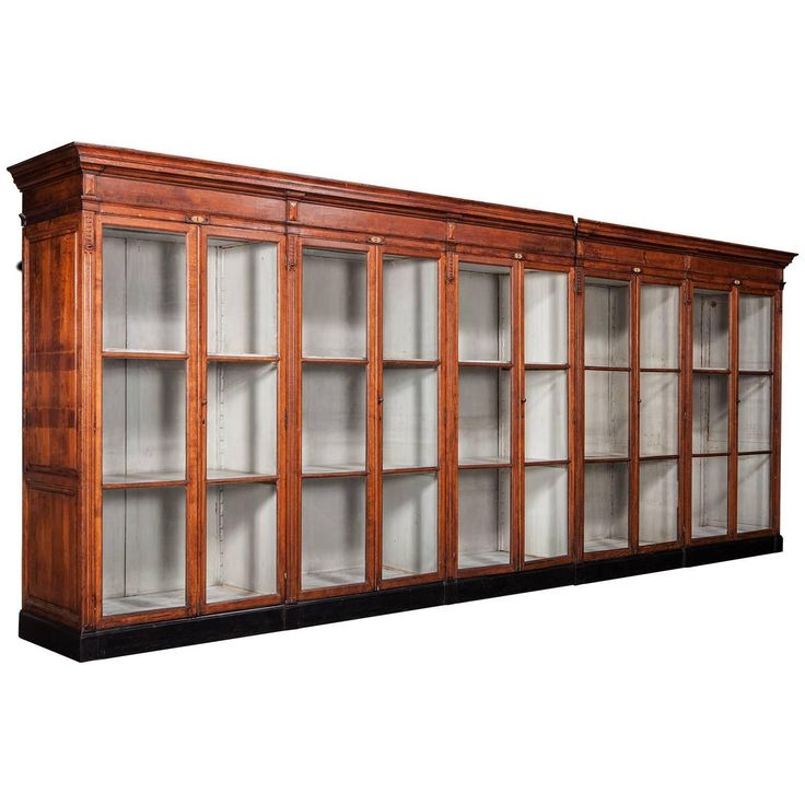 Massive Oak Display Cabinet | From a unique collection of antique and modern cabinets at https://www.1stdibs.com/furniture/storage-case-pieces/cabinets/