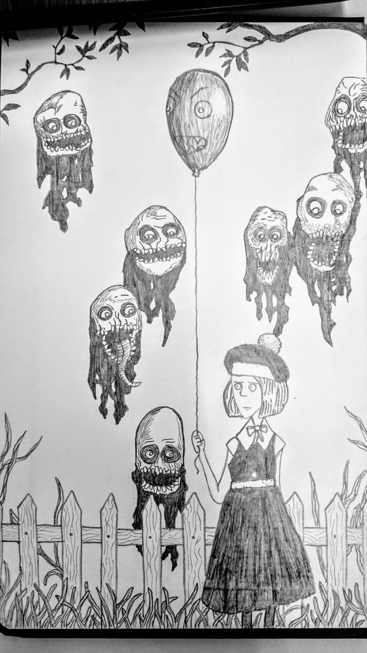 Satanic drawing... /Black and White.