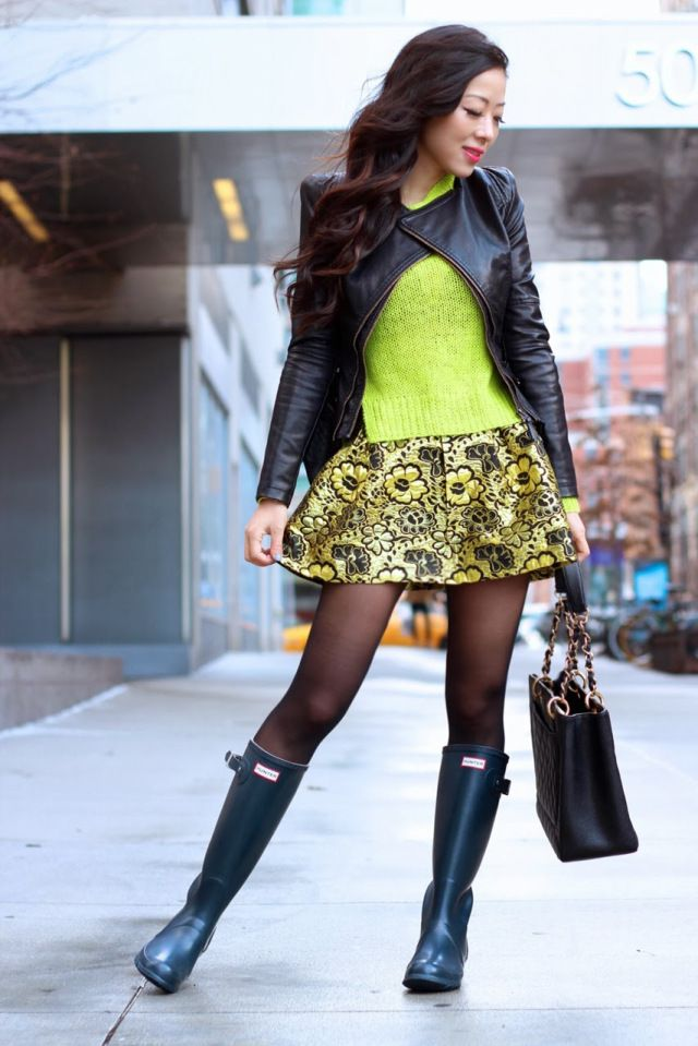 Wow She S Adorable Girls Wearing Tights And Wellingtons