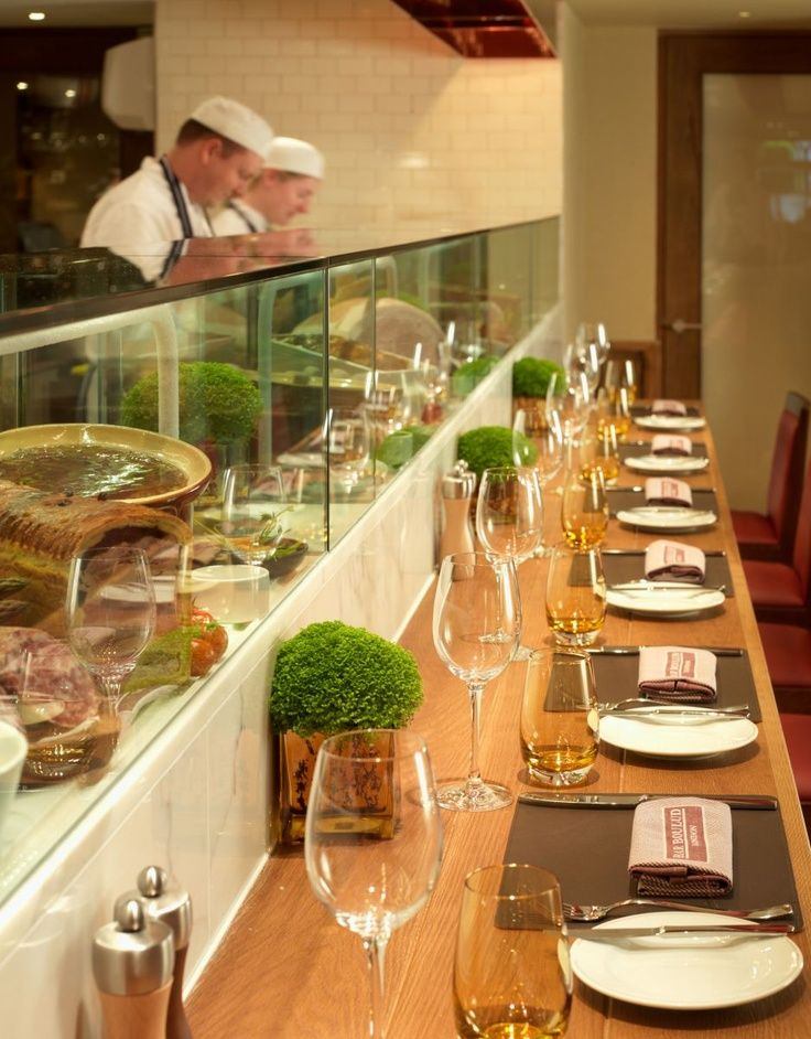 Glass Open Kitchen Restaurant | open kitchen with glass and bar addition
