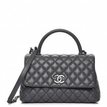 fd575f44b2 Chanel coco handle in small size. This Grey colour is stunning!   Chanelhandbags