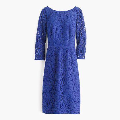 Petite Natalia dress in Leavers lace