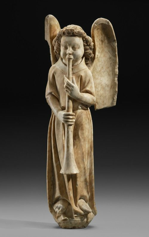 Trumpeting Angel, 14th century, French. Museum of Fine Arts , Boston, William Francis Warden Fund.