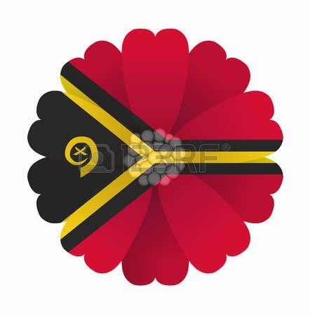 illustration of flower Flag Vanuatu photo