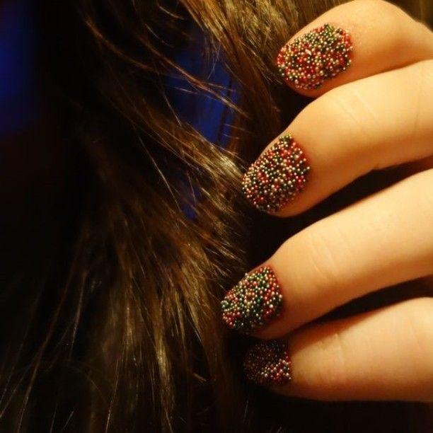 #julenegler #Christmasnails #Christmas #caviar #ciate #mynails #nå #kan #jula #bare #komme #love #nails #nailpolish 🌠