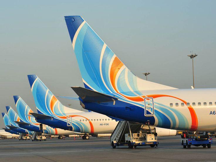 FlyDubai B-737-800 tails