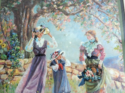 This is a print of one of my painting! I love this one because it has my nieces and our daughter in it! So fun!!!!