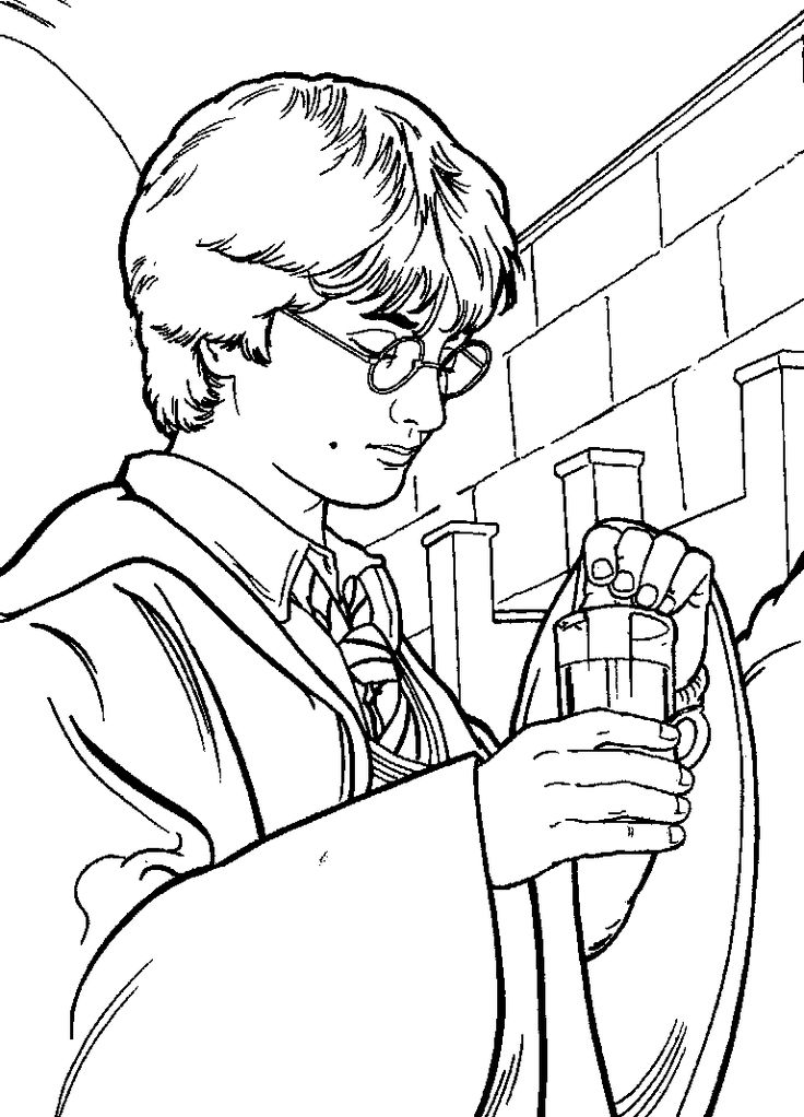 Harry Potter Easy Coloring Pages Free Printable Harry