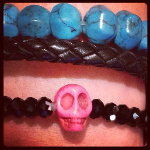 Love my sugar skulls so I couldn't resist this braclet I spotted on a recent holiday in Corsica