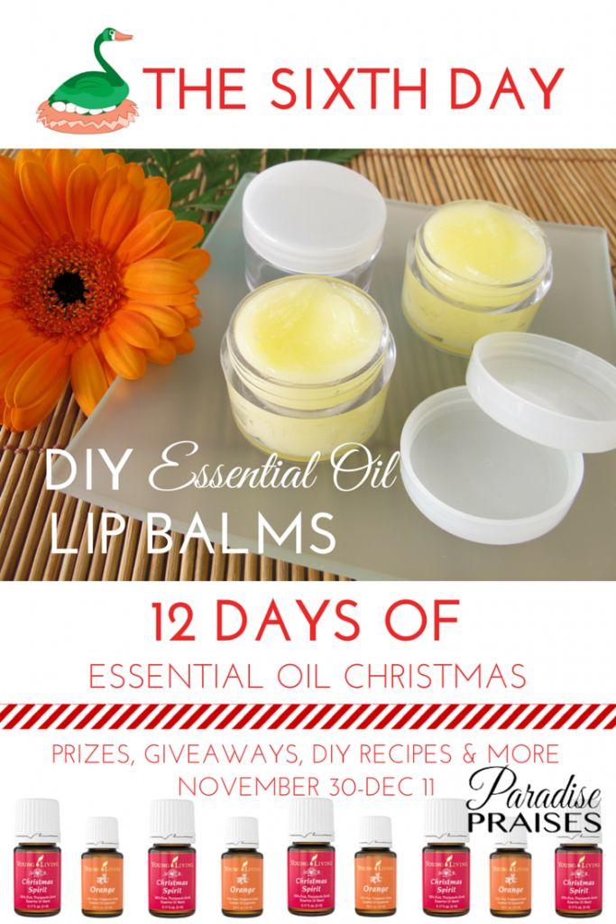 DIY Essential Oil Lip Balm recipes via ParadisePraises.com