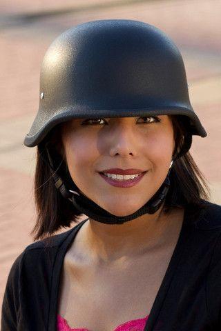 Tactical black german motorcycle helmet